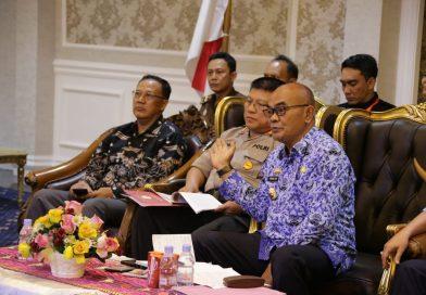 VC dengan Kemendagri, Pemprov Laporkan Pelaksanaan Pemilu 2019 di Lampung Berlangsung Aman, Damai dan Kondusif