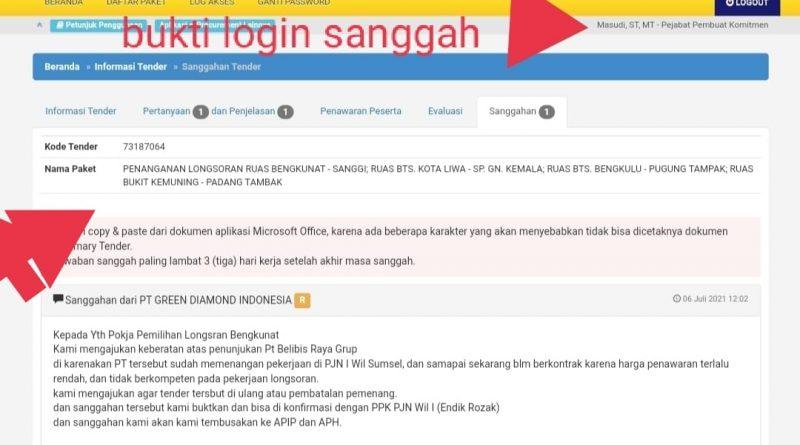 Pemenang Lelang Proyek BPJN Lampung Harus Dibatalkan